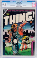 Golden Age (1938-1955):Horror, The Thing! #16 (Charlton, 1954) CGC NM 9.4 Off-white pages....