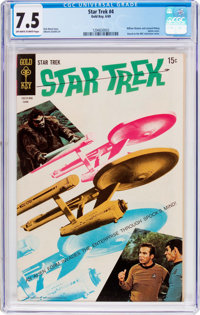 Star Trek #4 (Gold Key, 1969) CGC VF- 7.5 Off-white to white pages