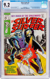 The Silver Surfer #5 (Marvel, 1969) CGC NM- 9.2 Off-white to white pages
