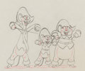 Animation Art:Production Drawing, Three Blind Mouseketeers Animation Drawing (Walt Disney,1936). ...