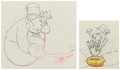 Animation Art:Production Drawing, Mother Goose Goes Hollywood W. C. Fields and CharlieMcCarthy Animation/Color Model Drawings Group of 2 (Walt Disney,... (Total: 2 )