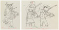 Animation Art:Production Drawing, Mother Goose Goes Hollywood Groucho, Chico and Harpo MarxAnimation Drawings Group of 2 (Disney, 1938). ... (Total: 2 )
