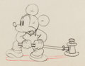 Animation Art:Production Drawing, Mickey's Service Station Mickey Mouse, Goofy, and DonaldDuck Animation Drawings Group of 3 (Walt Disney, 1935). ... (Total:3 )