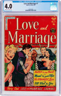 Golden Age (1938-1955):Romance, Love and Marriage #7 (Superior Comics, 1953) CGC VG 4.0 Cream tooff-white pages....