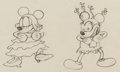 Animation Art:Production Drawing, Mickey's Mellerdrammer Minnie Mouse and Mickey MouseAnimation Drawing (Walt Disney, 1933). ...