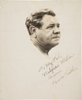 Autographs:Photos, Circa 1940 Babe Ruth Signed Photograph with Vintage Joe DiMaggioAutograph on Verso....