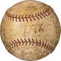 Baseball Collectibles:Balls, Early 1930's New York Yankees Team Signed Baseball with Extras....