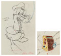 Animation Art:Production Drawing, Officer Duck Donald Duck and Radio Animation Drawings Groupof 2 (Walt Disney, 1939). ... (Total: 2 )