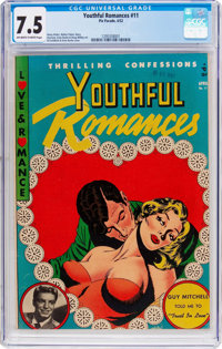Youthful Romances #11 (Pix Parade, 1952) CGC VF- 7.5 Off-white to white pages