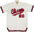 Basketball Collectibles:Uniforms, 1972-73 Dennis Awtrey Game Worn Chicago Bulls Warmup Jacke...