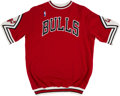 Basketball Collectibles:Uniforms, 1987-88 Sedale Threatt Game Worn Chicago Bulls Shooting Shirt....