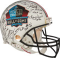 Football Collectibles:Helmets, Pro Football Hall of Famers Multi Signed Authentic Helmet. ...