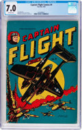 Golden Age (1938-1955):War, Captain Flight Comics #9 (Four Star, 1945) CGC FN/VF 7.0 Off-whitepages....