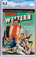 Golden Age (1938-1955):Science Fiction, Space Western Comics #40 (Charlton, 1952) CGC VG+ 4.5 Off-white towhite pages....