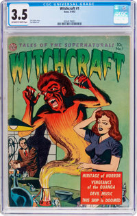 Witchcraft #1 (Avon, 1952) CGC VG- 3.5 Off-white to white pages