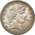 Barber Quarters, 1909-D 25C MS67 PCGS....