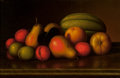 Fine Art - Painting, American, Levi Wells Prentice (American, 1851-1935). Fruit on a Tabletop. Oil on canvas. 10 x 16 inches (25.4 x 40.6 cm). Signed l...