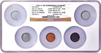 1943 Five-Piece Set of Experimental Cents NGC