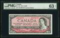 Canadian Currency, BC-44d $1,000 1954. ...
