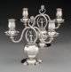 A Pair of Georg Jensen Pomegranate Pattern No. 324 Silver Two-Light Candelabra, designed 1919, manuf... (Total: 2 )
