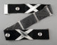 An Early Hector Aguilar Silver and Black Suede Belt, Taxco, Mexico, circa 1945 Marks: TAXCO, HA, 940 30-1/4 inches lon...