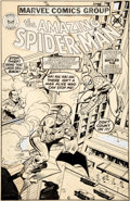 Original Comic Art:Covers, John Romita Sr. and Joe Sinnott Amazing Spider-Man Aim Toothpaste Giveaway #1 Cover Original Art (Marvel, 1980)....