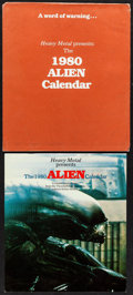 "Movie Posters:Science Fiction, Alien (20th Century Fox, 1979). Calendar (10.5"" X 12""). ScienceFiction.. ..."