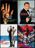 """Movie Posters:James Bond, James Bond Lot (Various, 1964-2008). Very Fine. Japanese Programs (9) (Multiple Pages, 8.25"""" X 11.75"""" & 10"""" & 13""""). James Bo... (Total: 9 Items)"""