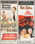 """Movie Posters:Drama, The Ugly American & Other Lot (Universal, 1963). Inserts (2) (14"""" X 36""""). Drama.. ... (Total: 2 Items)"""