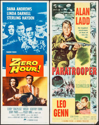 "Zero Hour! & Other Lot (Paramount, 1957). Folded and Rolled, Fine/Very Fine. Inserts (2) (14"" X 36""). Thri..."