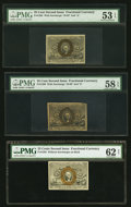 Fractional Currency:Second Issue, A Grouping of Second Issue 25¢ Notes.. ... (Total: 6 notes)