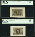 Fractional Currency:Second Issue, Second Issue Wide Margin Pairs, Two Sets PCGS Graded. . ... (Total: 4 notes)
