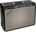 Musical Instruments:Amplifiers, PA, & Effects, 1966 Fender Pro Reverb Black Guitar Amplifier, Serial # A05207....