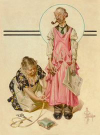 Joseph Christian Leyendecker (American, 1874-1951) Living Mannequin, The Saturday Evening Post cover, M