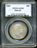 Coins of Hawaii: , 1883 50C Hawaii Half Dollar AU50 PCGS. ...
