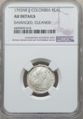Colombia, Colombia: Charles IV Real 1792 NR-JJ AU Details (Damaged, Cleaned)NGC,...