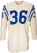 Football Collectibles:Uniforms, 1950's Bill Pellington Game Worn Baltimore Colts Jersey....