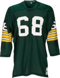Football Collectibles:Tickets, 1970-72 Gale Gillingham Game Worn Green Bay Packers Jersey, MEARS A9.. ...