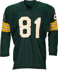Football Collectibles:Uniforms, 1961 Lee Folkins Game Worn Green Bay Packers Jersey, MEARS A9.5.. ...