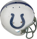 Football Collectibles:Uniforms, Late 1970's Baltimore Colts Game Worn Rare Laminated Helmet....
