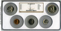 Proof Sets, Five-Piece 1954 Proof Set PR64 Red to PR67 NGC. This set will include the following: cent PR67 Red; nickel PR64; dime PR66... (Total: 5 coins)