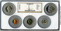 Certified Modern Proof Sets, Five-Piece 1954 Proof Set PR65 Red to PR67 NGC. This set will include the following: cent PR67 Red; nickel PR65; dime PR67... (Total: 5 coins)
