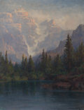 Fine Art - Painting, American:Modern  (1900 1949)  , William Franklin Jackson (American, 1850-1936). Lake Louise. Oil on canvas laid on board. 13-1/2 x 10-1/2 inches (34.3 ...
