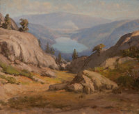 William Franklin Jackson (American, 1850-1936) Donner Lake Oil on canvas 18 x 22 inches (45.7 x