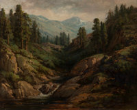William Franklin Jackson (American, 1850-1936) Soda Springs Oil on canvas 15-1/2 x 19-1/2 inche