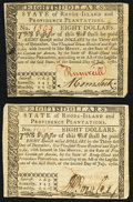 Colonial Notes:Rhode Island, Rhode Island July 2, 1780 $8 About New. Two Examples.. ... (Total:2 notes)