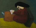 American:Modern, Milton Avery (American, 1885-1965). Young Artist, circa1938. Oil on canvas. 28-1/2 x 36-1/4 inches (72.4 x 92.2 cm). Si...