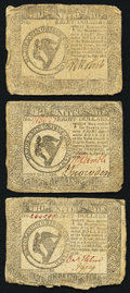 Colonial Notes:Continental Congress Issues, Continental Currency September 26, 1778 $8 Fine or better. ThreeExamples.. ... (Total: 3 notes)