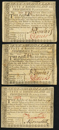 Colonial Notes:Rhode Island, Rhode Island July 2, 1780 $7 Extremely Fine or better. ThreeExamples.. ... (Total: 3 notes)