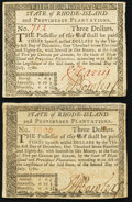 Colonial Notes:Rhode Island, Rhode Island July 2, 1780 $3 About New. Two Examples.. ... (Total:2 notes)
